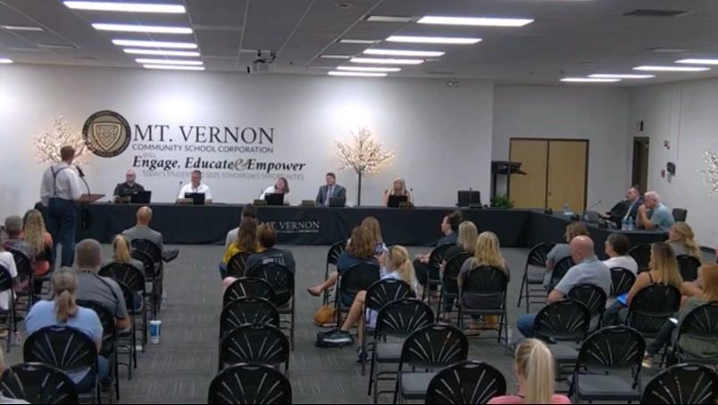 Mt. Vernon School Board Meeting – Dr. Dan Stock